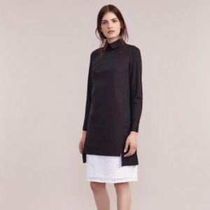 Black longline tunic